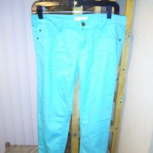 Love Fire Turquoise Green Junior Slim Skinny Jeans